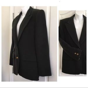 Italian Cashmere & Wool Blend Blazer M Dark Green